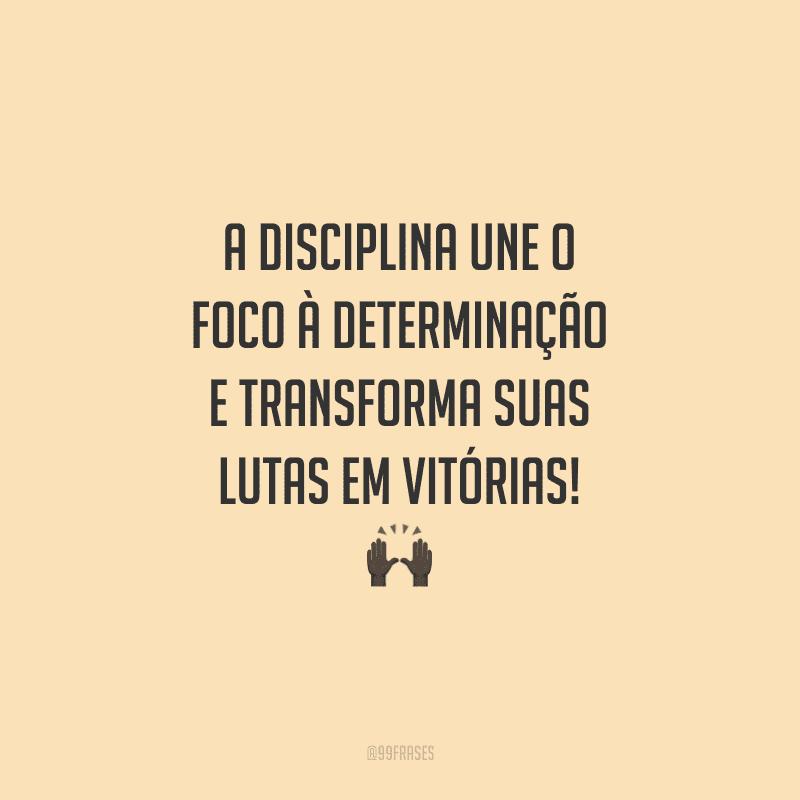 A disciplina une o foco à determinação e transforma suas lutas em vitórias!