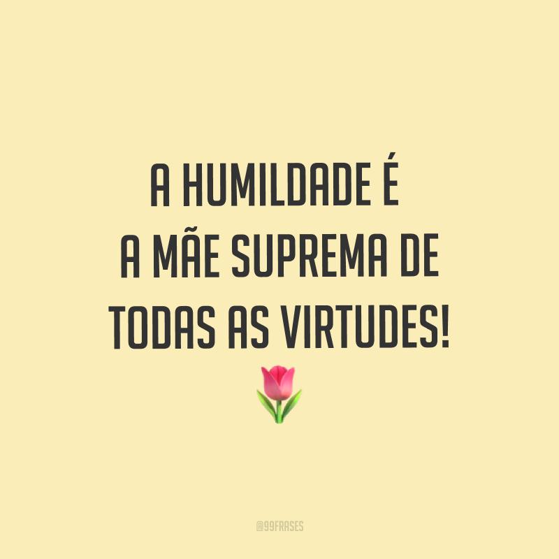 A humildade é a mãe suprema de todas as virtudes! ?