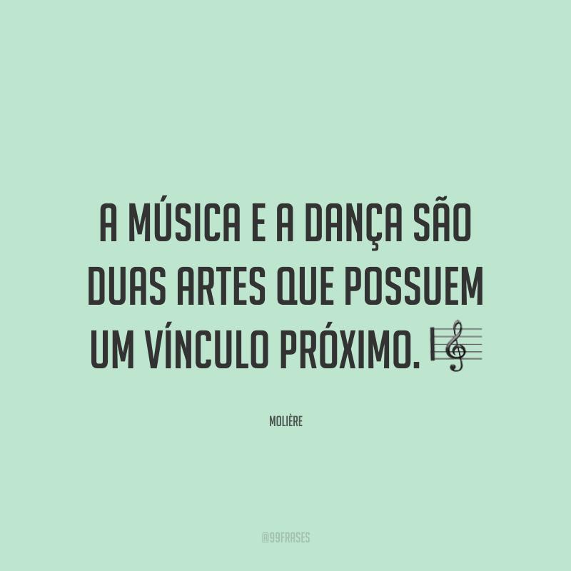 A música e a dança são duas artes que possuem um vínculo próximo. 🎼