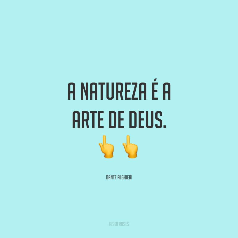 A natureza é a arte de Deus. ??