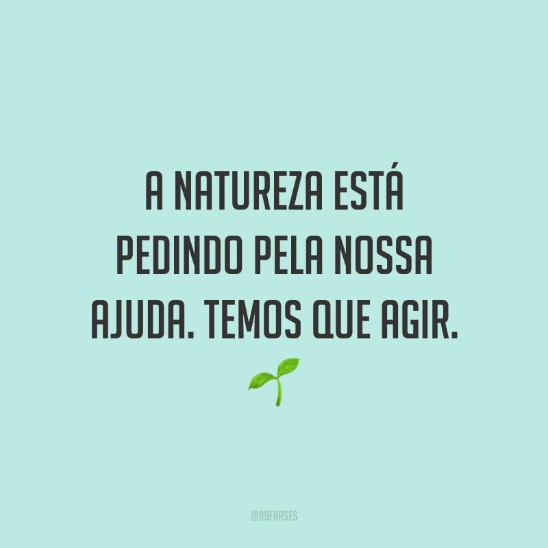 A natureza está pedindo pela nossa ajuda. Temos que agir. 🌱