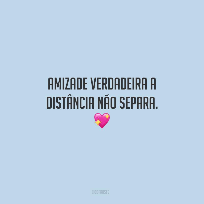 Amizade verdadeira a distância não separa.