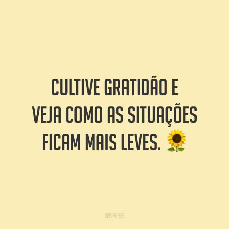 Cultive gratidão e veja como as situações ficam mais leves. 🌻