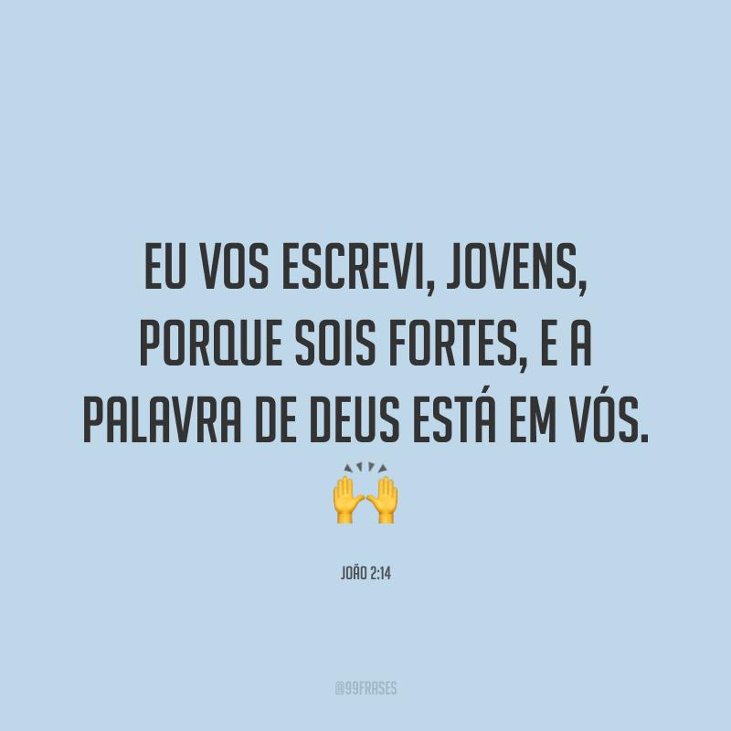 Eu vos escrevi, jovens, porque sois fortes, e a palavra de Deus está em vós. 🙌