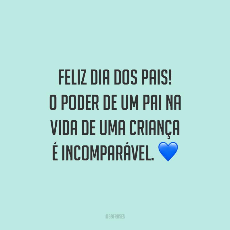 Feliz Dia dos Pais! O poder de um pai na vida de uma criança é incomparável. 💙
