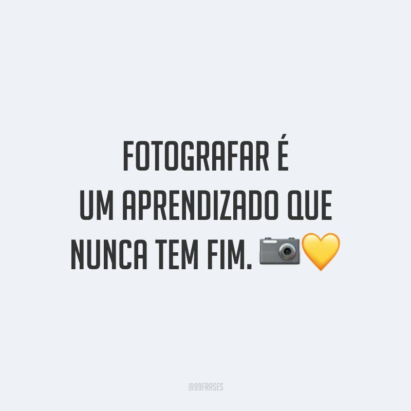 Fotografar é um aprendizado que nunca tem fim. 📷💛