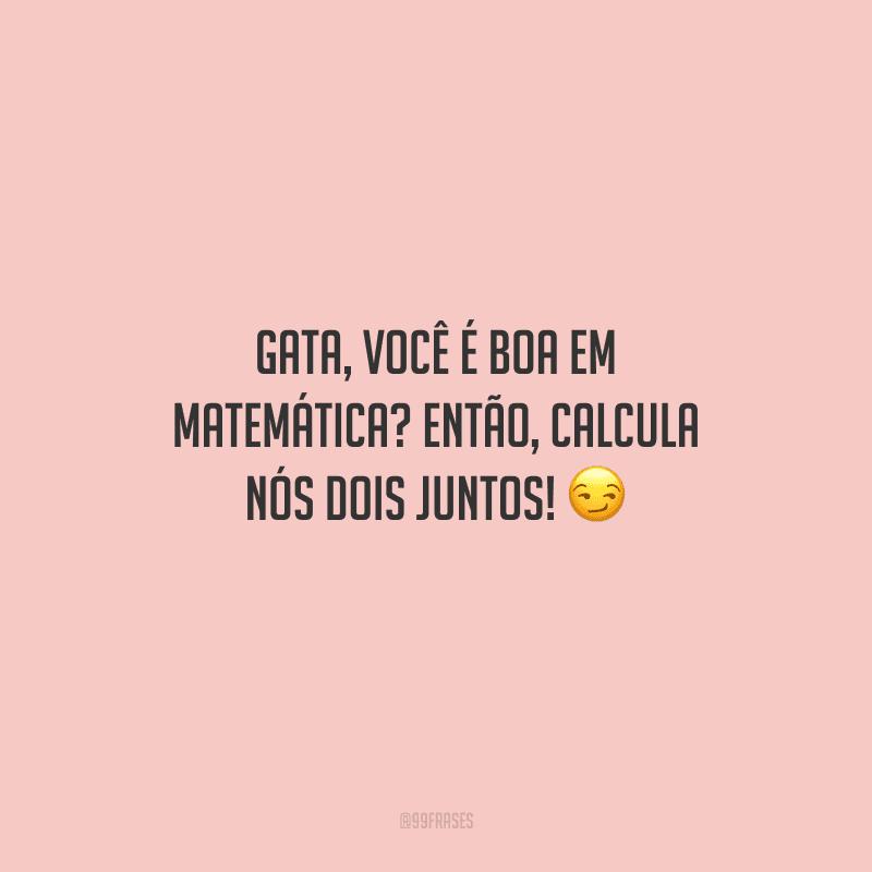 Gata, você é boa em matemática? Então, calcula nós dois juntos!