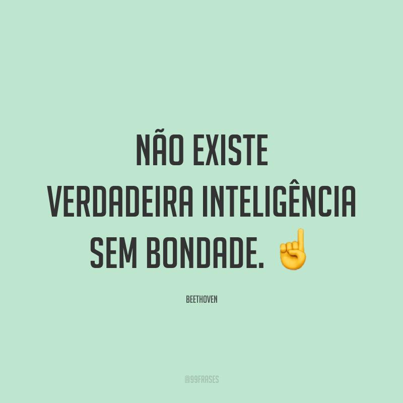 Não existe verdadeira inteligência sem bondade. ☝️