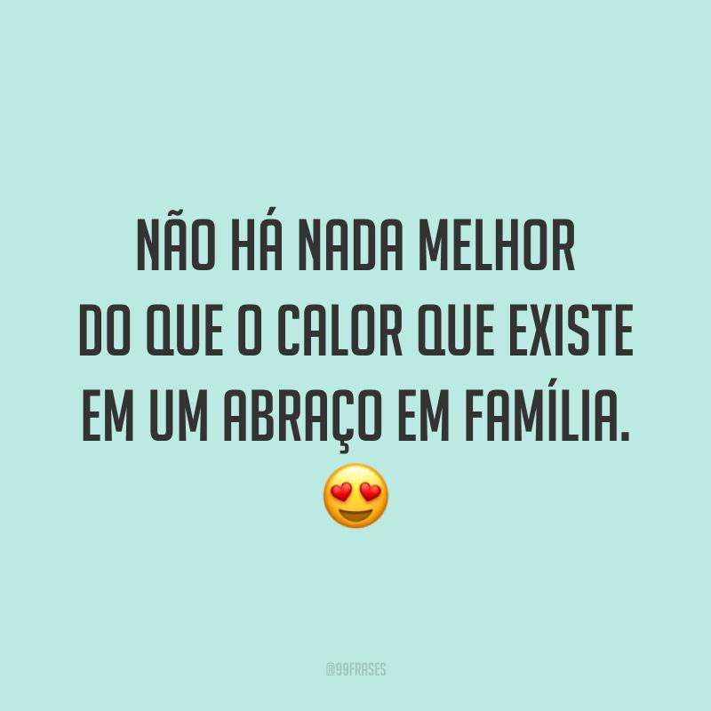 Não há nada melhor do que o calor que existe em um abraço em família. 😍