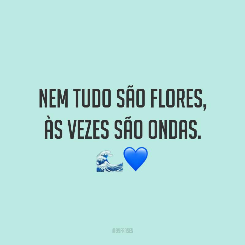 Nem tudo são flores, às vezes são ondas. 🌊💙
