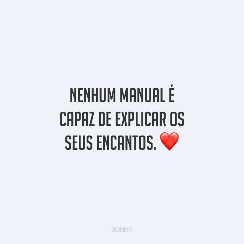 Nenhum manual é capaz de explicar os seus encantos.