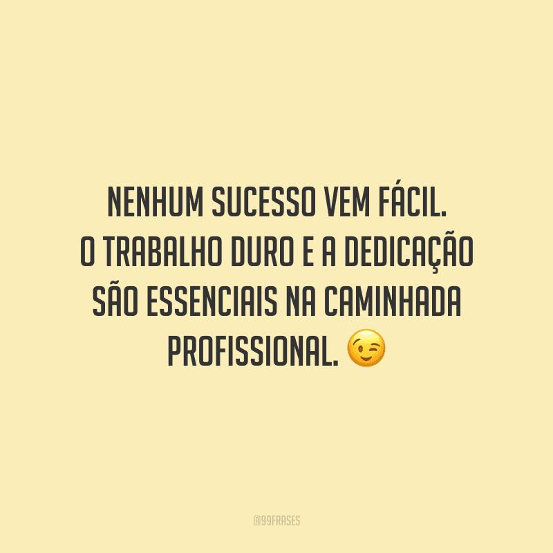 Nenhum sucesso vem fácil. O trabalho duro e a dedicação são essenciais na caminhada profissional.