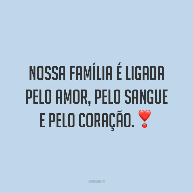 Nossa família é ligada pelo amor, pelo sangue e pelo coração.❣️