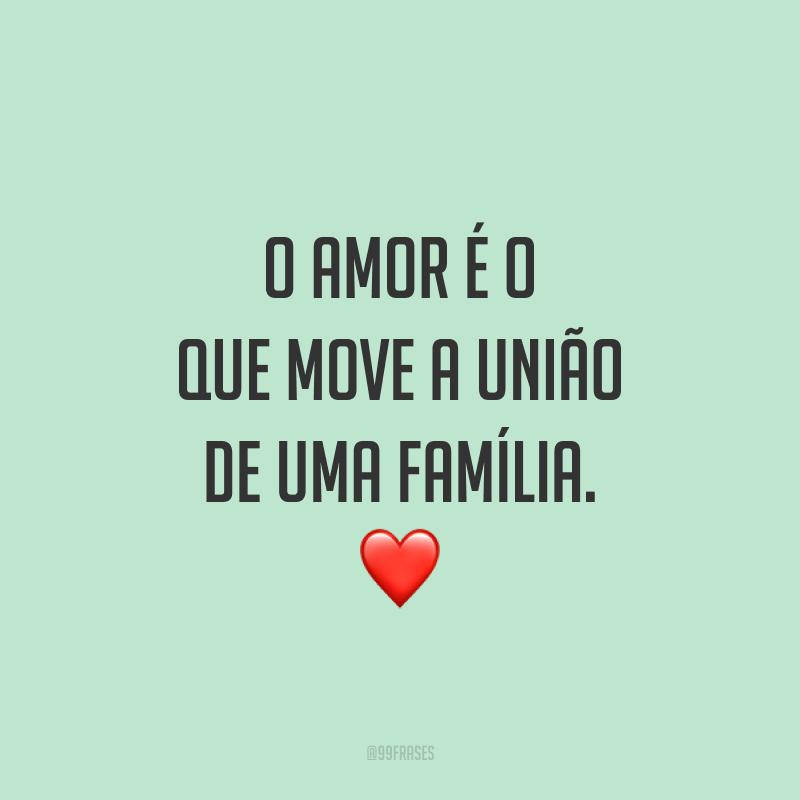 O amor é o que move a união de uma família.  ❤️