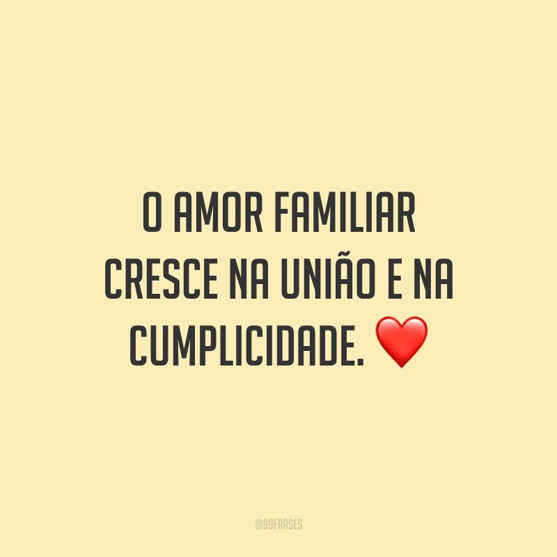 O amor familiar cresce na união e na cumplicidade. ❤
