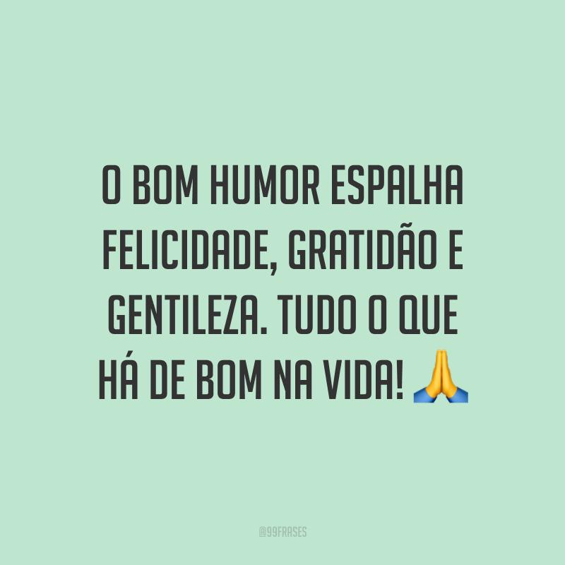 O bom humor espalha felicidade, gratidão e gentileza. Tudo o que há de bom na vida! 🙏