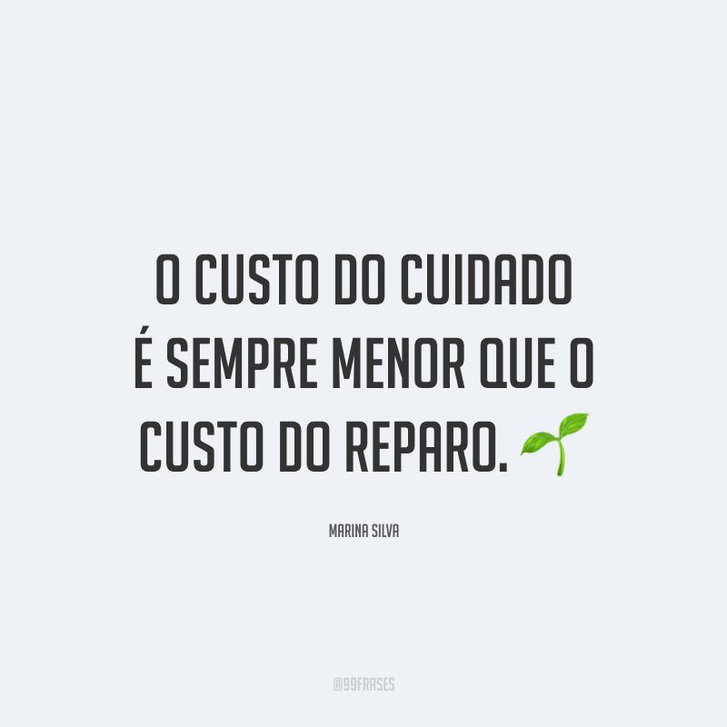 O custo do cuidado é sempre menor que o custo do reparo. 🌱