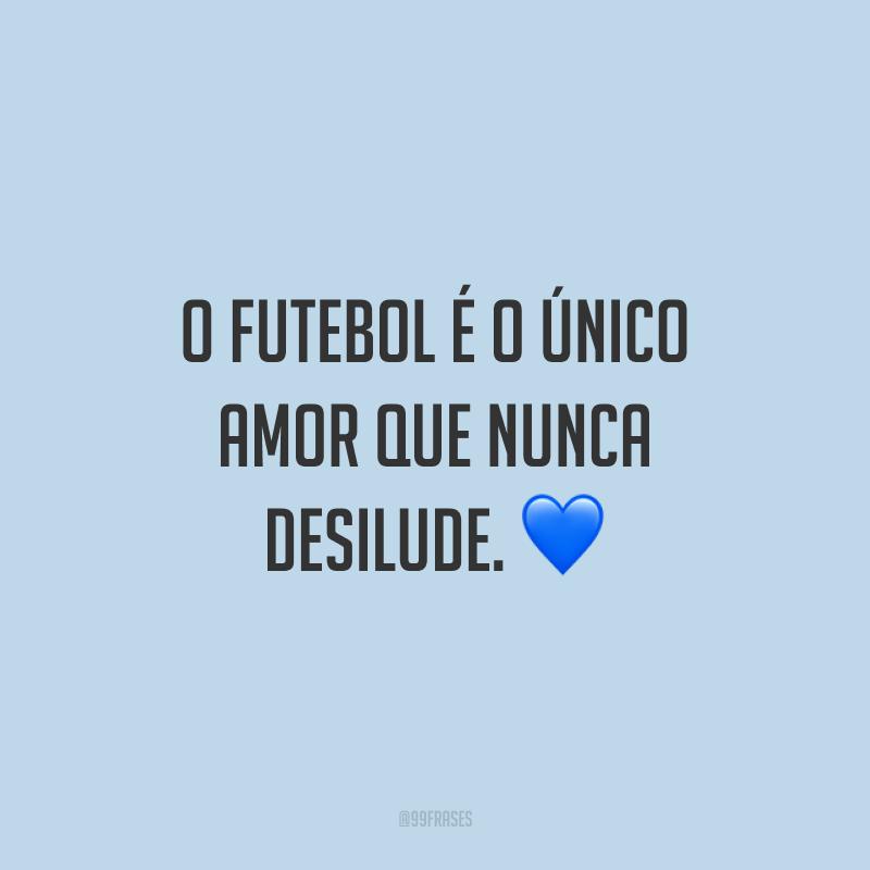 O futebol é o único amor que nunca desilude. ?