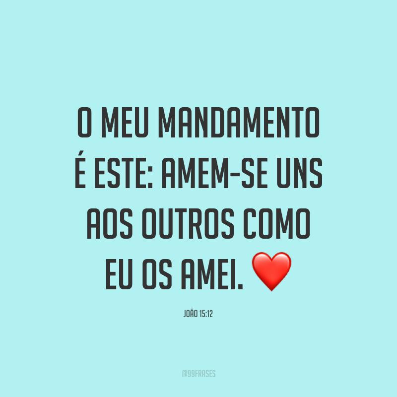 O meu mandamento é este: Amem-se uns aos outros como eu os amei. ❤