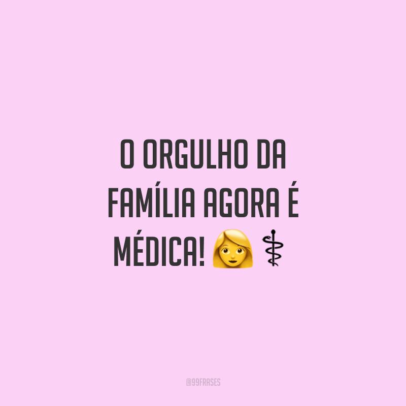 O orgulho da família agora é médica! 👩⚕️