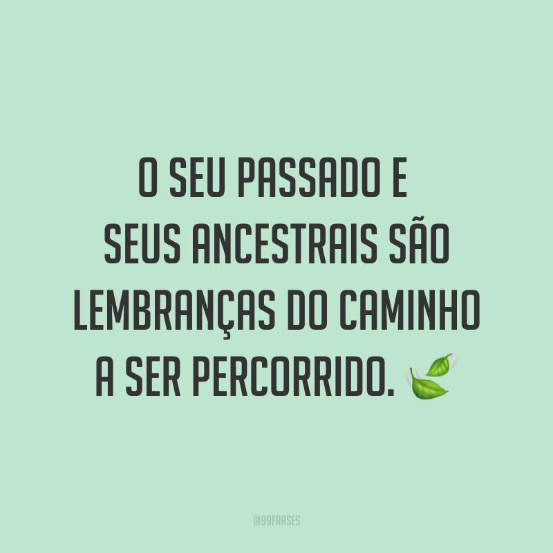 O seu passado e seus ancestrais são lembranças do caminho a ser percorrido. ?