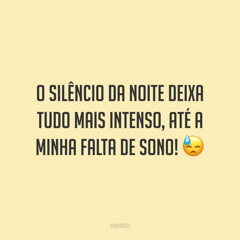 O silêncio da noite deixa tudo mais intenso, até a minha falta de sono! 😓