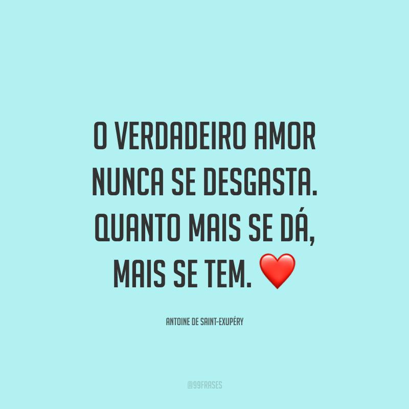 O verdadeiro amor nunca se desgasta. Quanto mais se dá, mais se tem. ❤️
