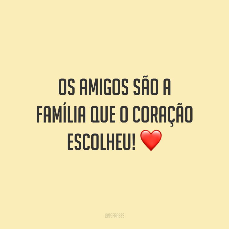 Os amigos são a família que o coração escolheu! ❤️