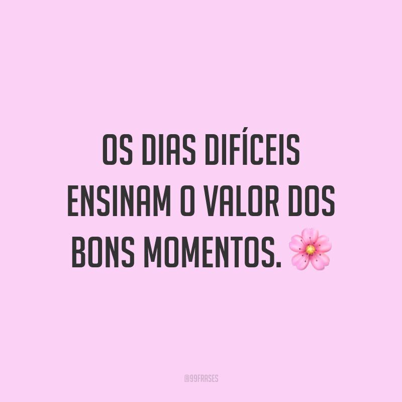 Os dias difíceis ensinam o valor dos bons momentos. 🌸