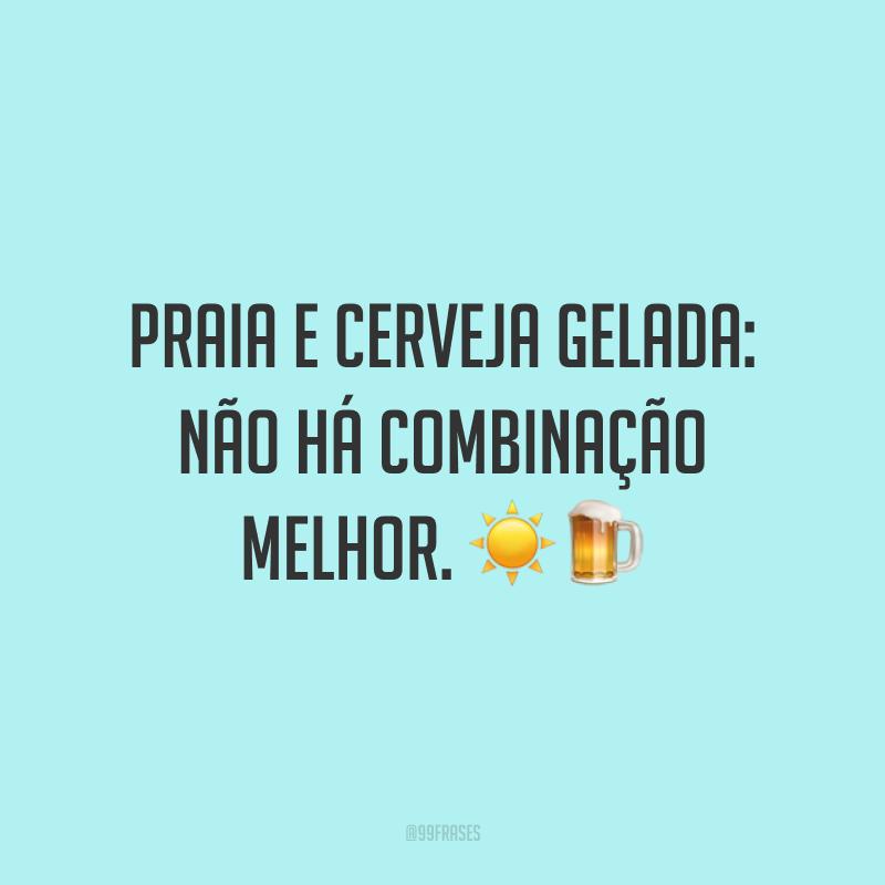Praia e cerveja gelada: não há combinação melhor. ☀️🍺
