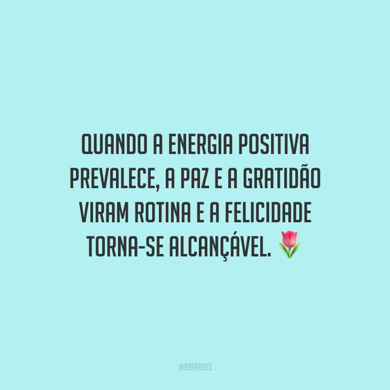 Quando a energia positiva prevalece, a paz e a gratidão viram rotina e a felicidade torna-se alcançável.