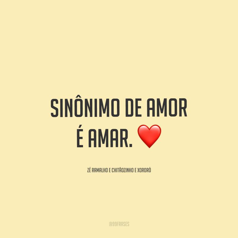 Sinônimo de amor é amar. ❤