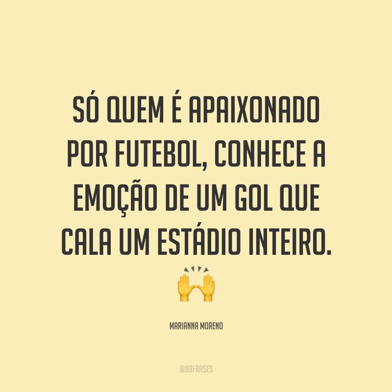 Só quem é apaixonado por futebol, conhece a emoção de um gol que cala um estádio inteiro. ?
