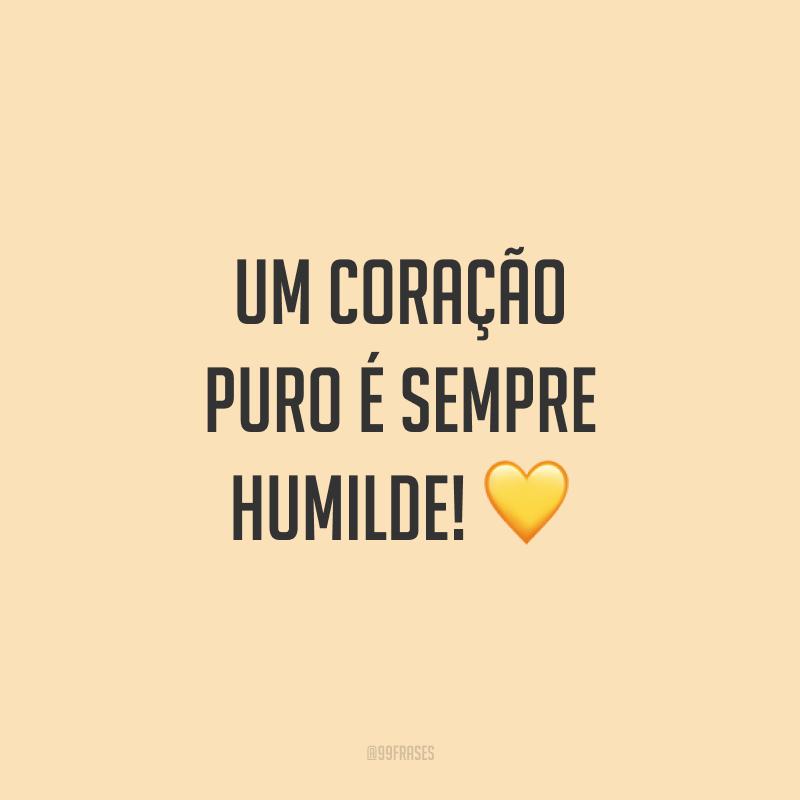 Um coração puro é sempre humilde! ?