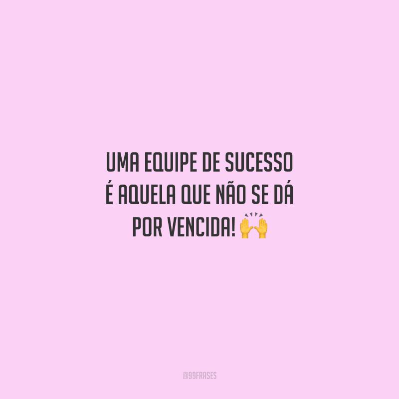 Uma equipe de sucesso é aquela que não se dá por vencida!