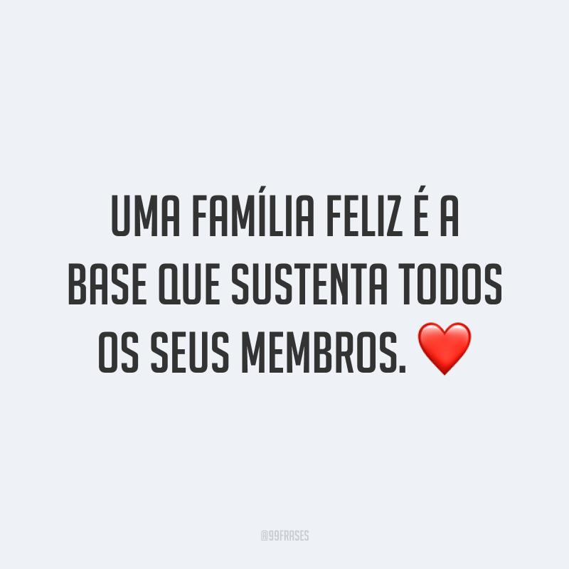 Uma família feliz é a base que sustenta todos os seus membros. ❤️